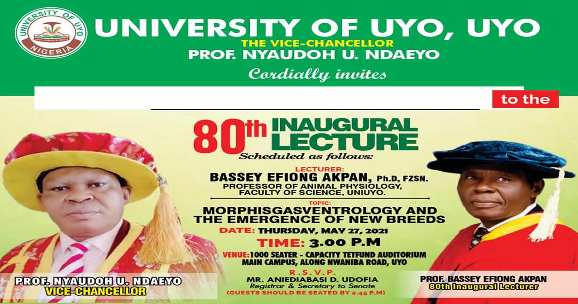 80th Inaugural Lecture