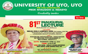 81st Inaugural Lecture